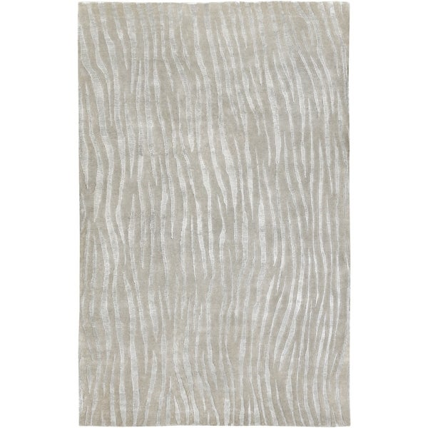 Hand-knotted Dereham Abstract Plush Wool Area Rug - 8' x 11'