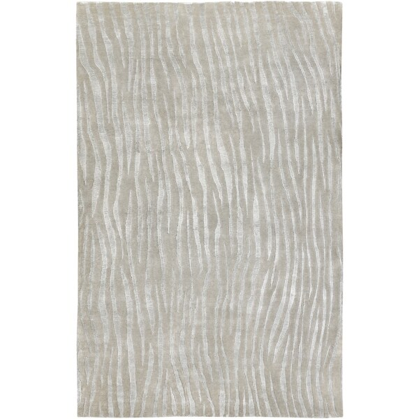 Hand-knotted Dereham Abstract Plush Wool Area Rug - 9' x 13'