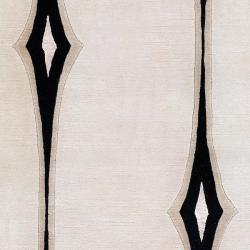 Hand-knotted Desborough Geometric Wool Rug (5' x 8')