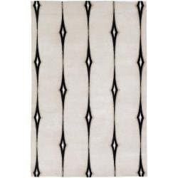 Hand-knotted Desborough Geometric Wool Area Rug - 5' x 8' - Thumbnail 0