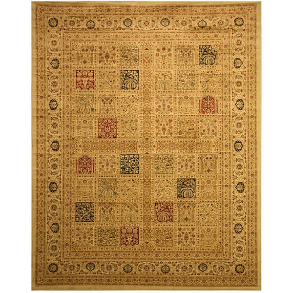 EORC Ivory Magnificent Panel Tabriz Rug (7'10 x 9'10)