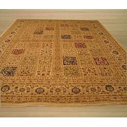 EORC Ivory Magnificent Panel Tabriz Rug (7'10 x 9'10)