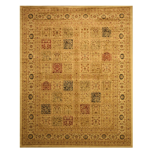 Ivory Traditional Oriental Magnificent Panel Tabriz Rug (5'3 x 7'3)