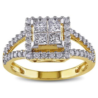 Miadora Signature Collection 14k Yellow Gold 1ct TDW Diamond Ring
