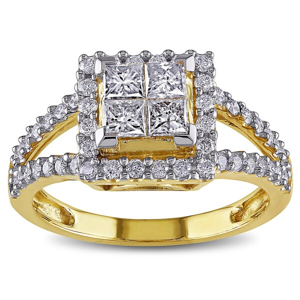 Miadora Signature Collection 14k Yellow Gold 1ct TDW Diamond Ring