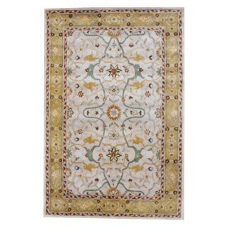 Herat Oriental Indo Hand-tufted Mahal Beige and Gold Wool Rug (3'3 x 5'3)