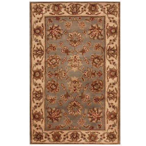 "Handmade Mahal Floral Wool Rug (India) - 3'3"" x 5'3"""