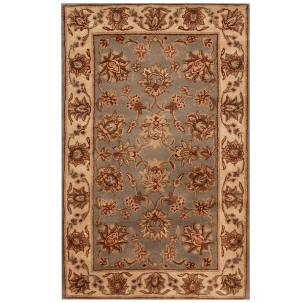 Herat Oriental Indo Hand-tufted Mahal Floral Wool Rug (3'3 x 5'3)