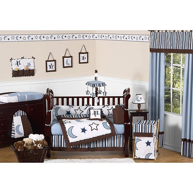 Starry Night 9-piece Crib Bedding Set - Thumbnail 0