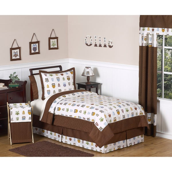 Sweet JoJo Designs Night Owl 3-piece Full/Queen-size Bedding Set