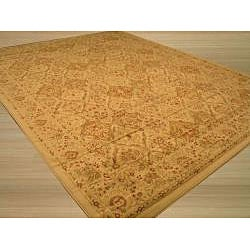 Ivory Traditional Oriental Panel Kashmir Rug (5'3 x 7'3) - Thumbnail 1