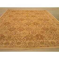 Ivory Traditional Oriental Panel Kashmir Rug (5'3 x 7'3) - Thumbnail 2