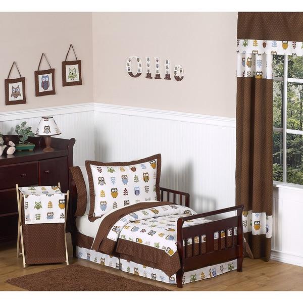 Sweet JoJo Designs Night Owl 5-piece Toddler Bedding Set