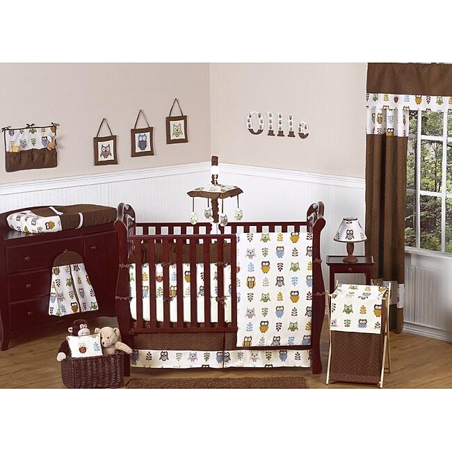Sweet Jojo Designs Night Owl 9-piece Crib Bedding Set