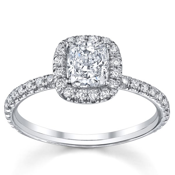 18k White Gold 1 1/3ct TDW Diamond Engagement Ring (H, SI2)