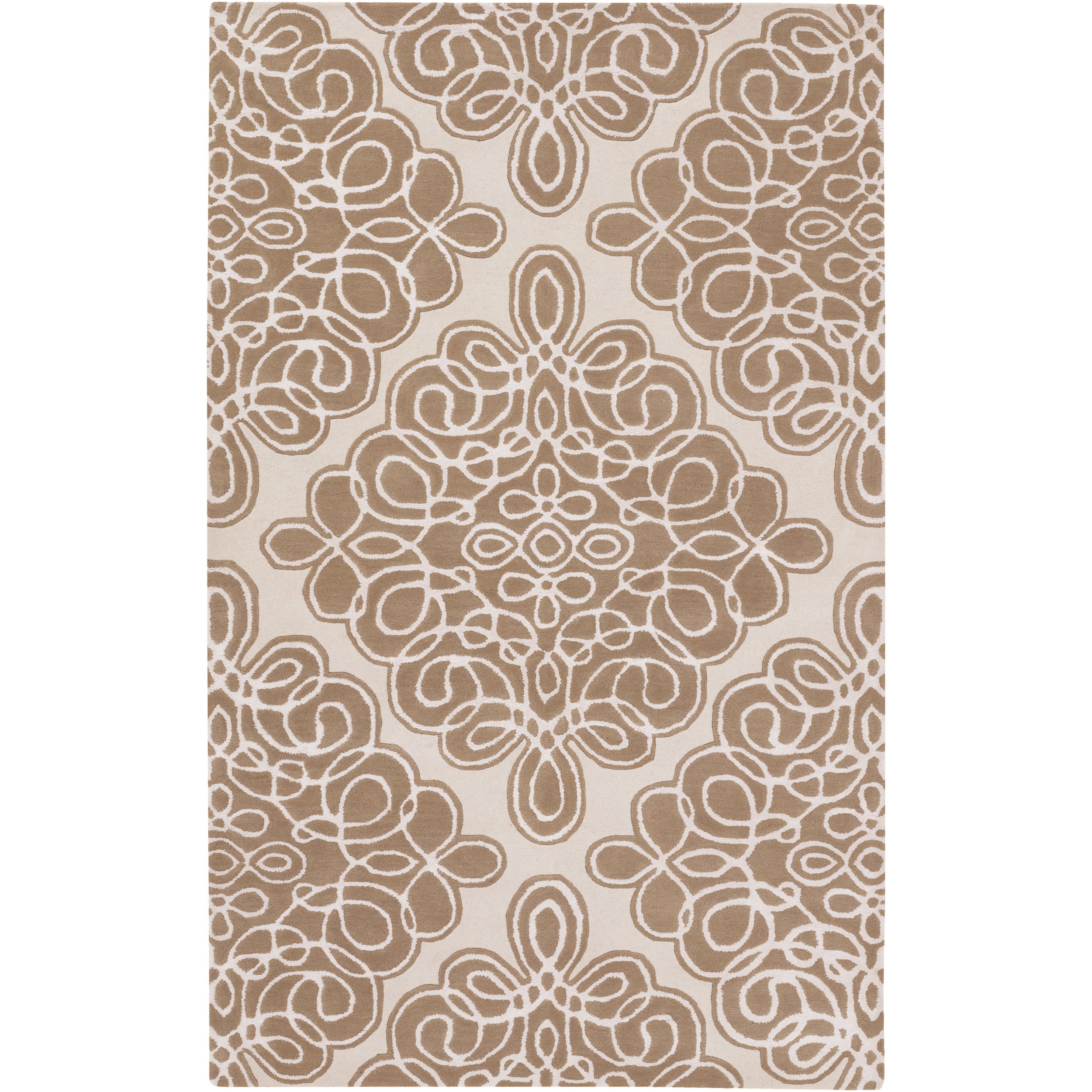 Hand-tufted Wetterstein Geometric Pattern Wool Rug (3'3 x 5'3) - Thumbnail 0