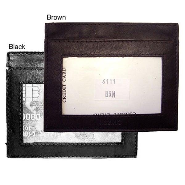 Men's Leather Credit/ Business Card Holder