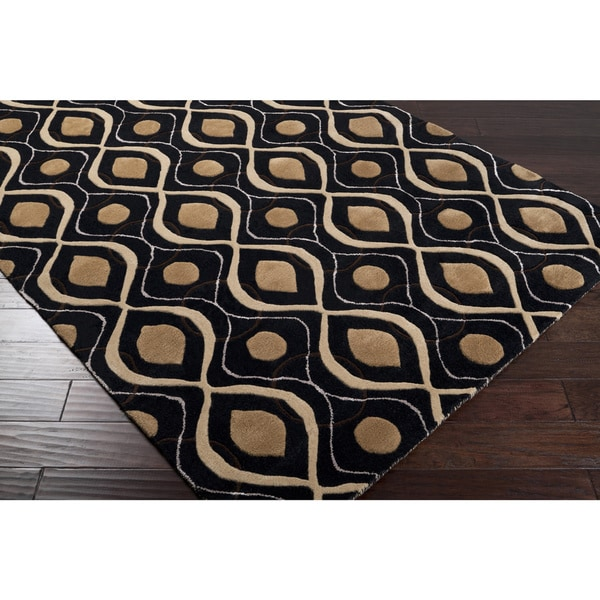 Candice Olson Hand-tufted Karwendel Moroccan Tile Wool Rug (8' x 11')