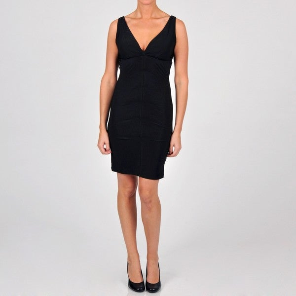 Onyx Nite Women's Ruched Jersey Knit Dress