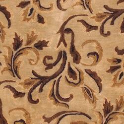 Hand Tufted Barnsley New Zealand Wool Rug (8' x 11') - Thumbnail 2