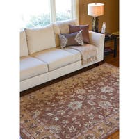 Hand-knotted Estate Hand-spun New Zealand Wool Area Rug - 5' x 8'