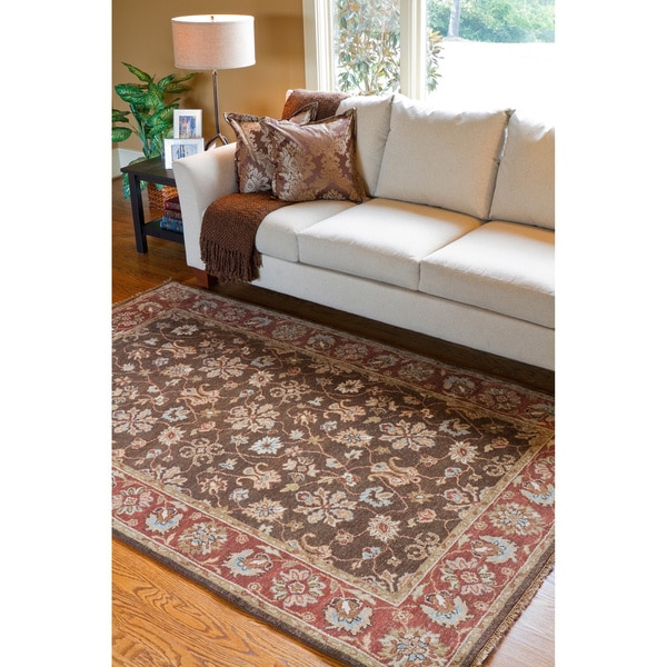 Hand-knotted Bedale Hand-spun New Zealand Wool Area Rug (9' x 13')