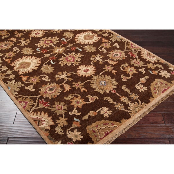 Hand-knotted Belper Hand-spun New Zealand Wool Area Rug - 9' x 13'