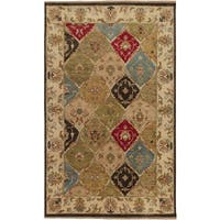Hand Knotted Brading Hand-spun New Zealand Wool Area Rug - 5' x 8'