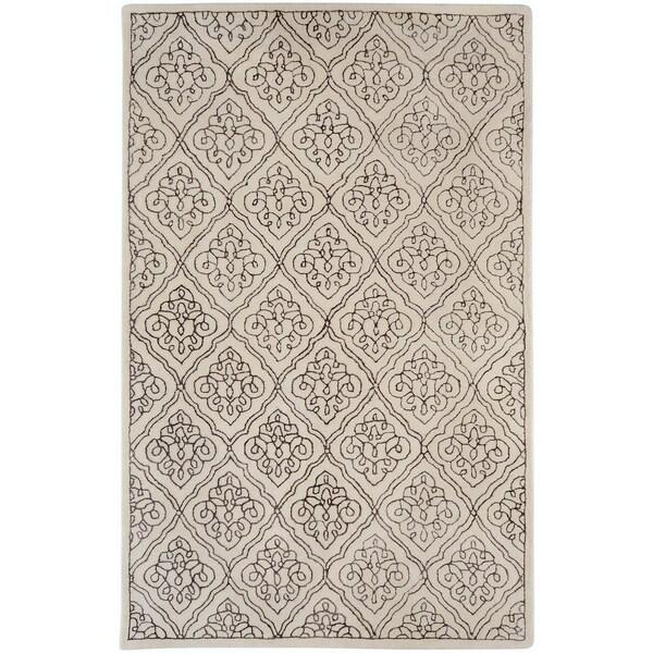 Hand-tufted Kunlun Contemporary Geometric Wool Area Rug - 3'3 x 5'3