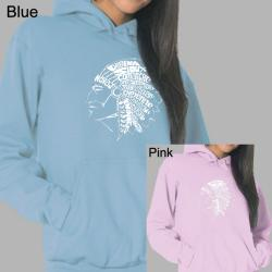 Los Angeles Pop Art Women's Native American Indian Hoodie