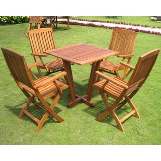 International Caravan Royal Tahiti 'Gibraltar' 5-piece Outdoor Dining Set