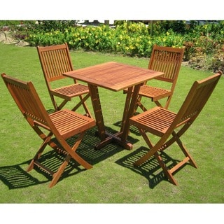 International Caravan Royal Tahiti 'Cadiz' 5-piece Outdoor Dining Set