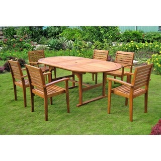 caravan royal tahiti 7piece oval butterfly extension table outdoor dining