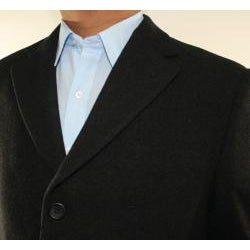 Ferrecci Men's Black Wool-blend Coat
