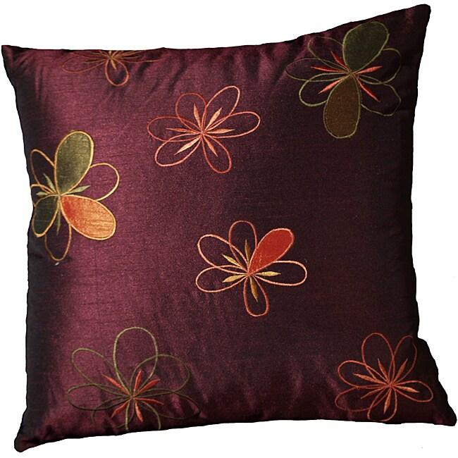 LNR Home Blackberry Adel Flowers 18-inch Pillow