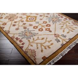 Hand-knotted Ivory Southwestern Belfort New Zealand Wool Rug ( 5'6 x 8'6 )