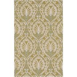 Hand-tufted Sevran BoGreenical Pattern Wool Area Rug (8' x 11') - Thumbnail 0