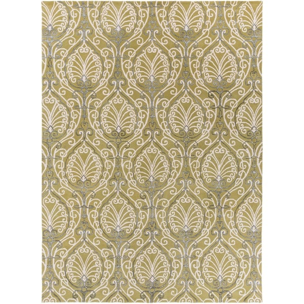Hand-tufted Sevran BoGreenical Pattern Wool Area Rug - 8' x 11'