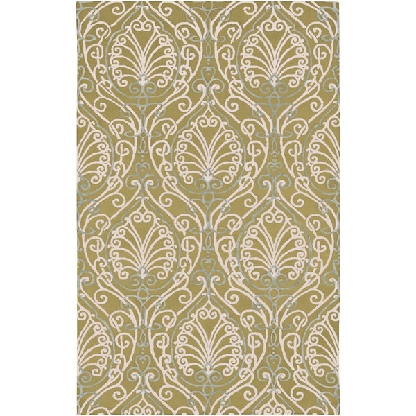 Hand-tufted Sevran BoGreenical Pattern Wool Area Rug - 5' x 8'