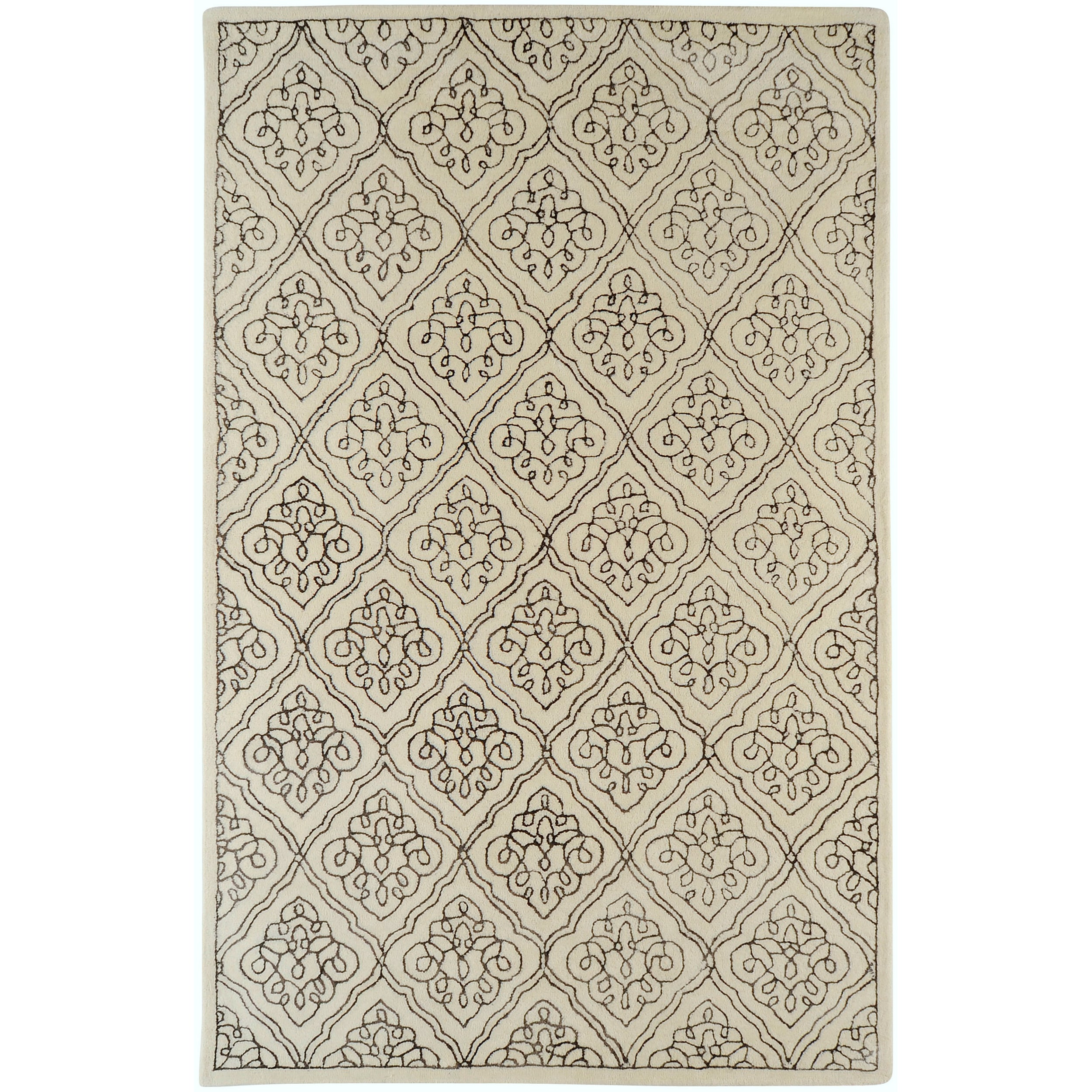 Hand-tufted Troyes Contemporary Geometric Wool Rug ( 8' x 11' )