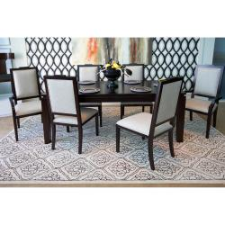 Hand-tufted Troyes Contemporary Geometric Wool Rug ( 8' x 11' ) - Thumbnail 2