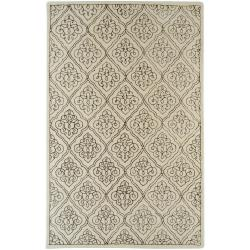 Hand-tufted Troyes Contemporary Geometric Wool Area Rug - 8' x 11' - Thumbnail 0
