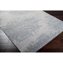 Hand-tufted Contemporary Grey Colombes New Zealand Wool Abstract Rug ( 8' x 11' )