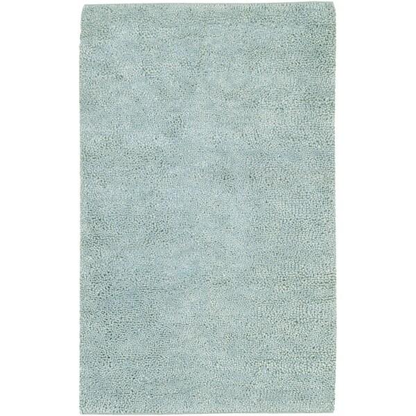 Hand-woven Barletta Colorful Plush Shag New Zealand Felted Wool Area Rug - 9' x 13'