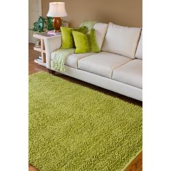 Hand-woven Pavia Colorful Plush Shag New Zealand Felted Wool Rug ( 3'6 x 5'6 ) - Thumbnail 1