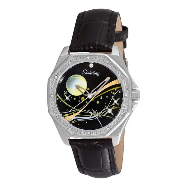 Stuhrling Original Women's Lady Nemo Universe Black-Strap Swiss Quartz Watch