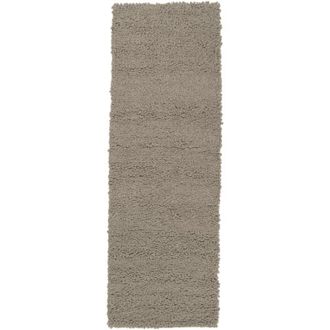 Hand-woven Trapani Colorful Plush Shag New Zealand Felted Wool Area Rug - 4' x 10'