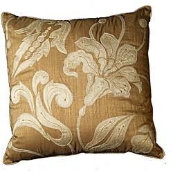 LNR Home Chantal Floral Clay 18-inch Pillow