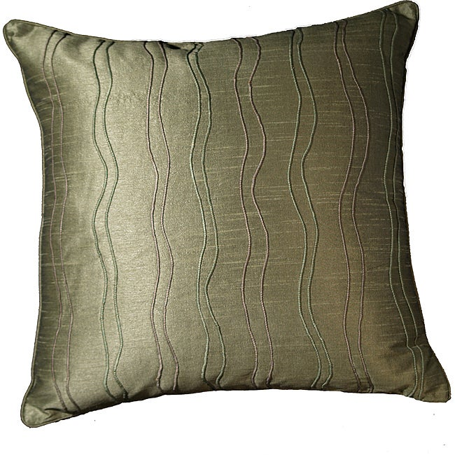 LNR Home Margrite Willow Ribbs 18-inch Pillow