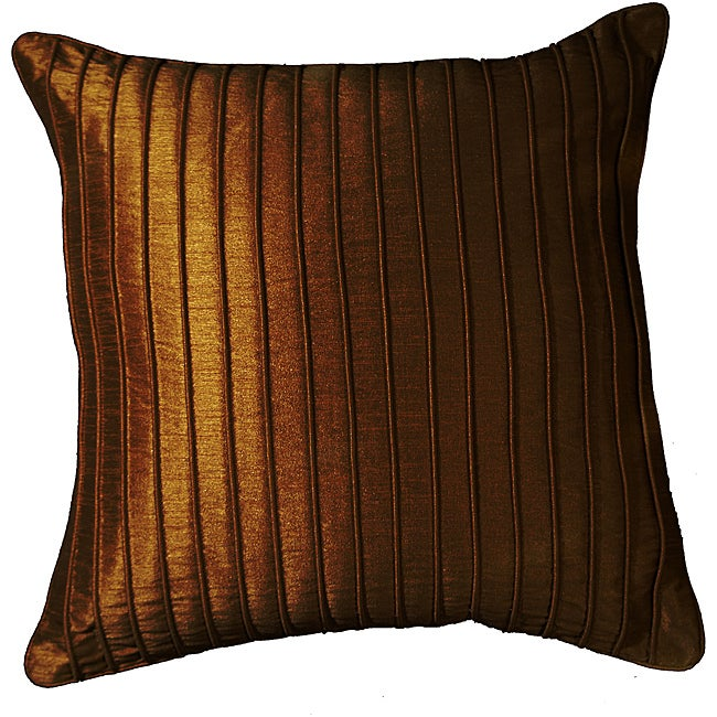LNR Home Marlane Ribbs Chocolate 18-inch Pillow